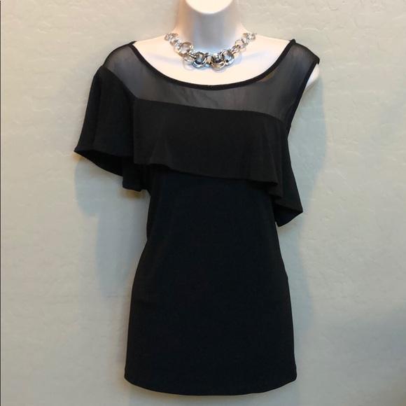 INC International Concepts Tops - INC International Concepts Black Dress Top Size L